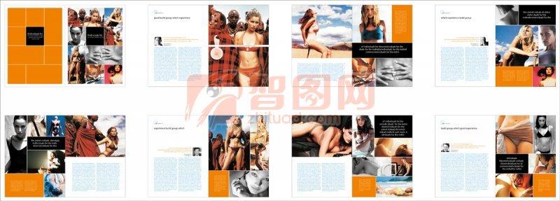 内衣画册设计 橙色主题