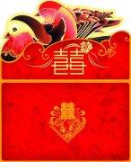 红色婚庆设计素材模版