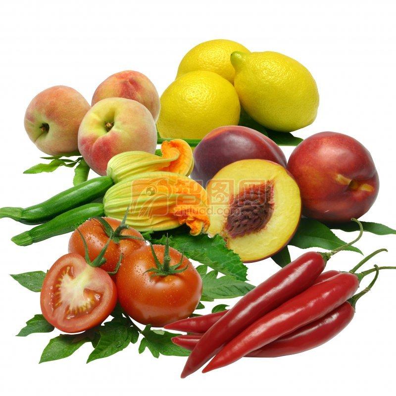 各类分层蔬果
