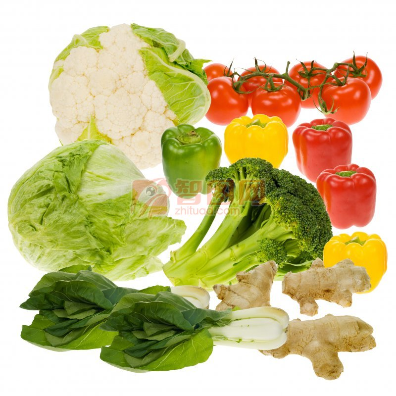 各种蔬菜分层素材