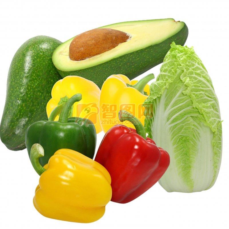 ps分层专区 生物世界 水果蔬菜  关键词: 高清蔬果海报素材 红黄辣椒