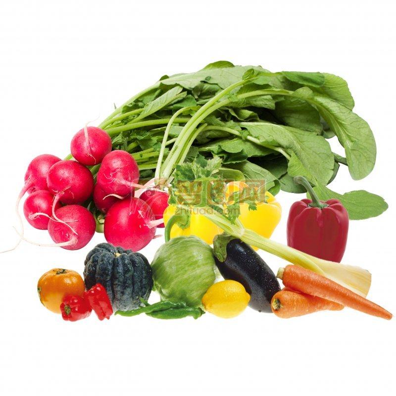各種蔬菜分層素材