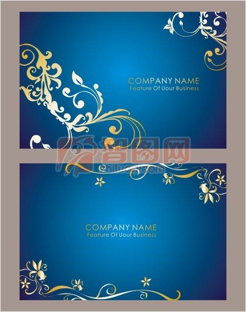 歐式花紋名片背景