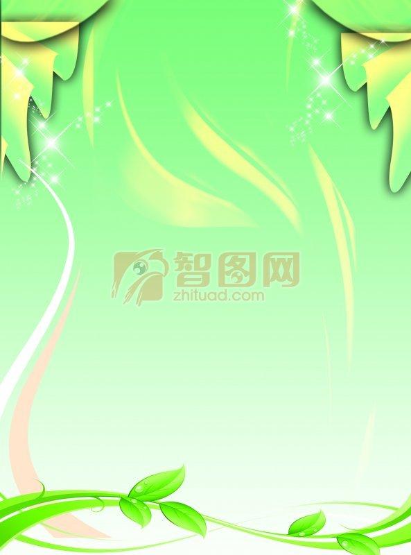 綠色環保展板背景