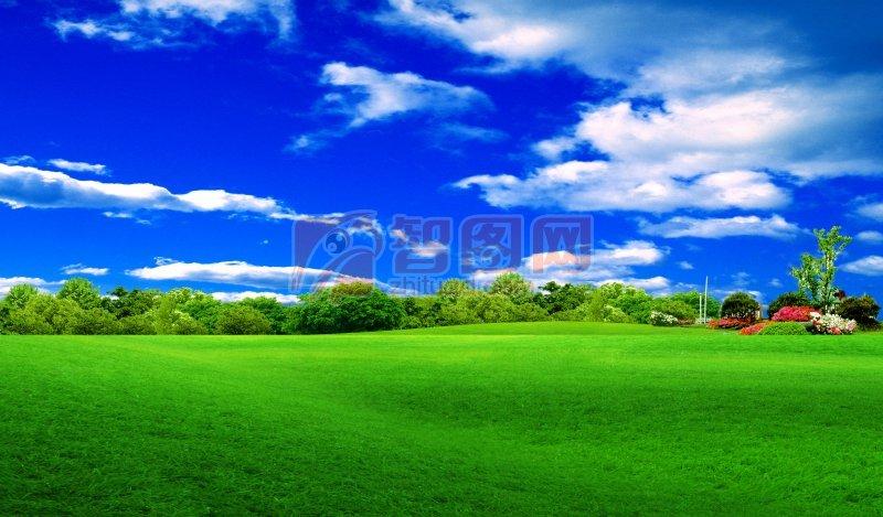 高清优美风景分层海报