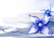 蓝色花纹设计素材