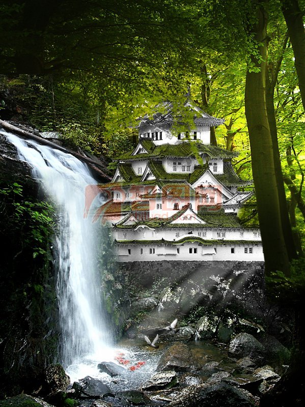 首页 ps分层专区 广告设计 宣传广告  关键词: 溪流 瀑布 原始 森林