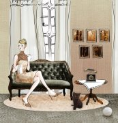 室內元素美術繪畫