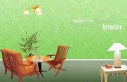 绿色背景室内设计