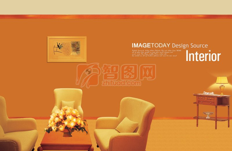 橘黄色室内设计