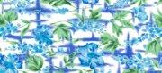 藍色抽象花紋