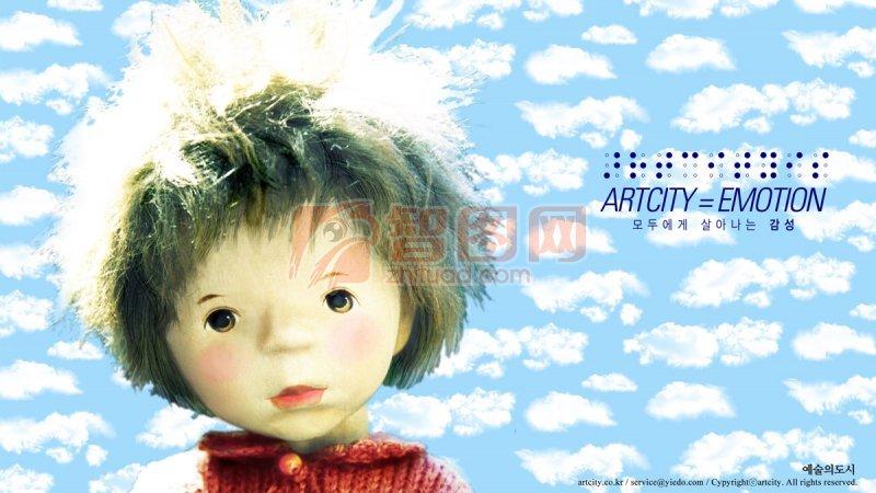 【psd】可爱小女生背景图