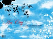 藍色花紋背景