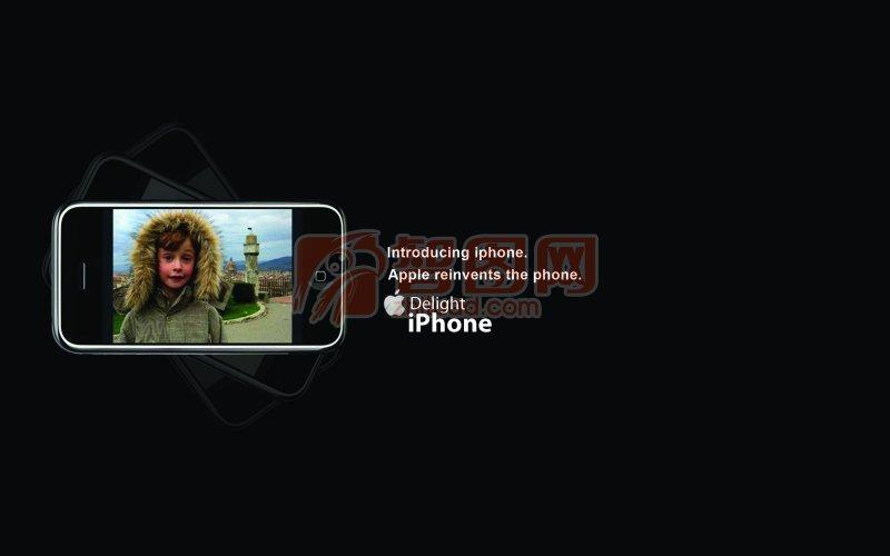 蘋果手機黑色背景畫冊設計