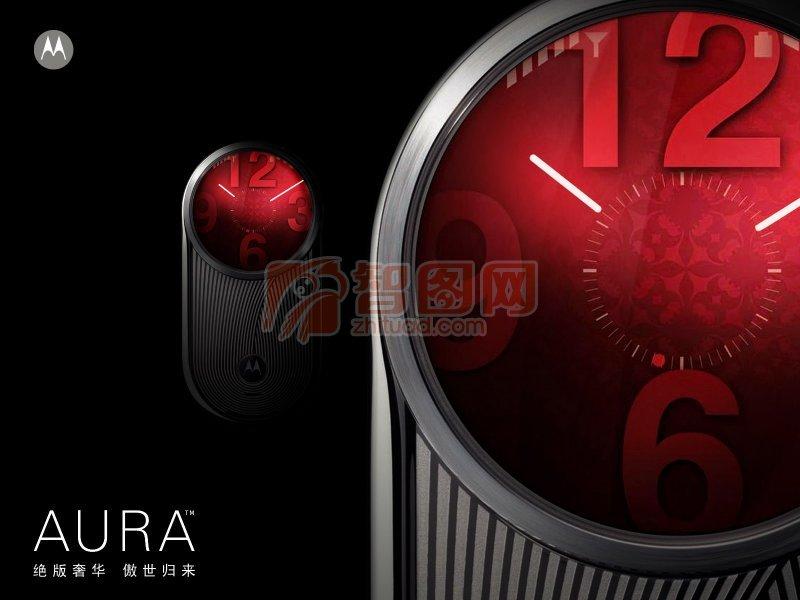 摩托羅拉AURA手機海報設計