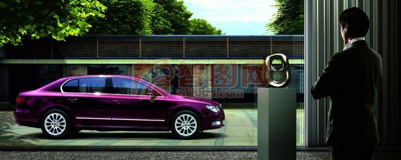 斯柯達紫色汽車畫冊設計