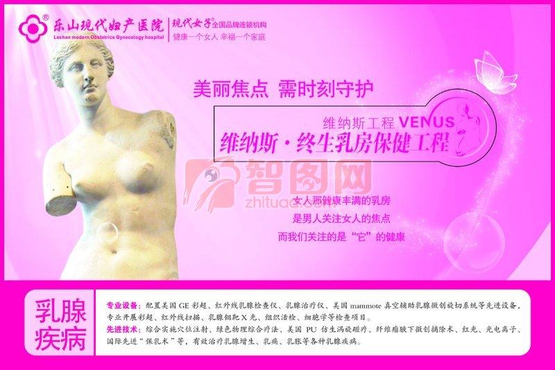 樂山現代婦科醫院乳房保健海報設計