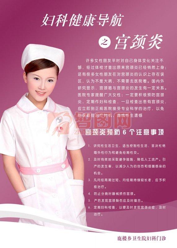 婦科健康導航海報設計