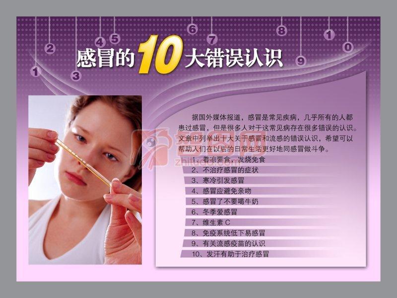 感冒的10大錯誤認識海報