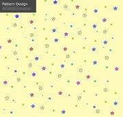 黃色花紋背景
