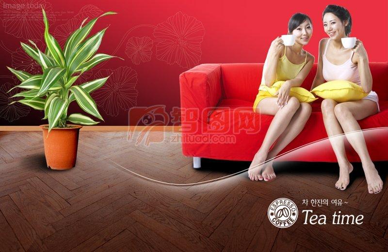 红色元素人物设计