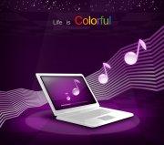 紫色背景海报