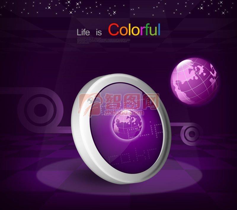 紫色背景海报设计