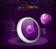 紫色背景海報設計