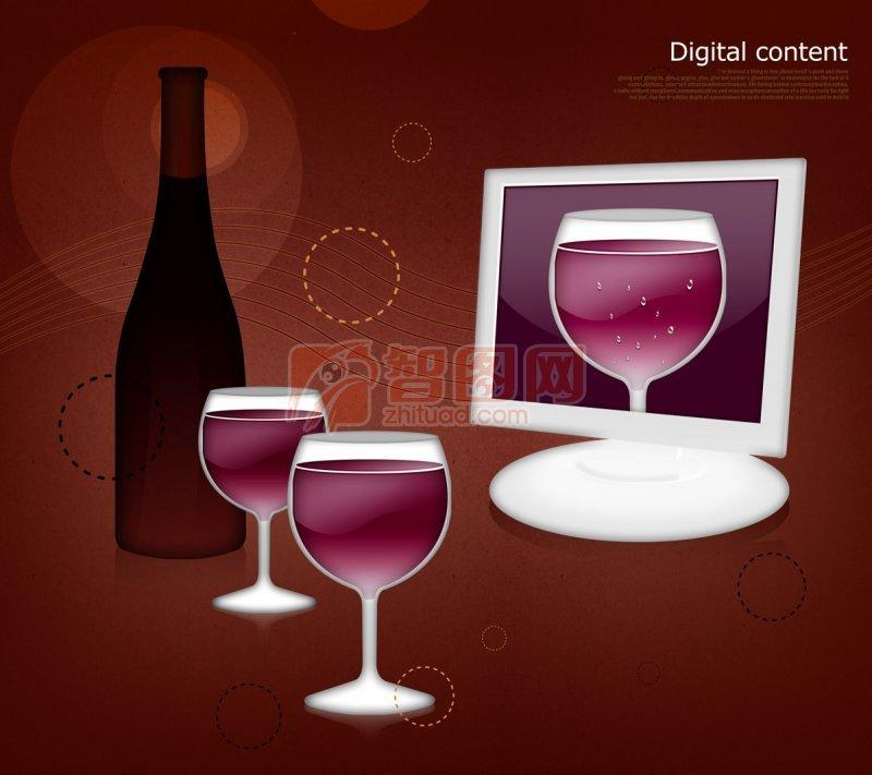 酒元素海报设计