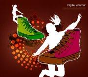 運動鞋海報設計