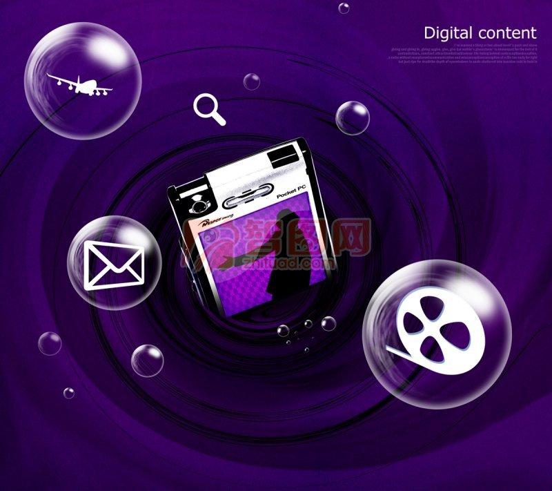 紫色时尚插画