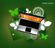 綠色歐式花紋