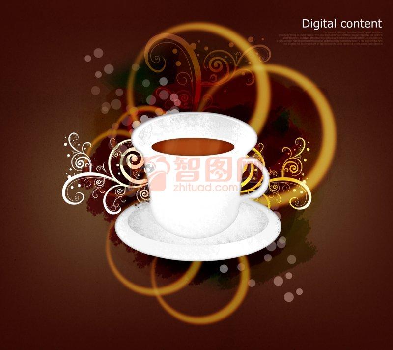 咖啡杯创意花纹