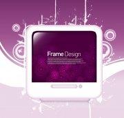 紫色电视花纹