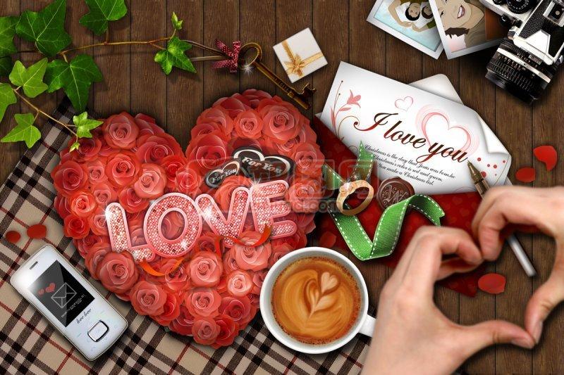 爱情宣言海报设计