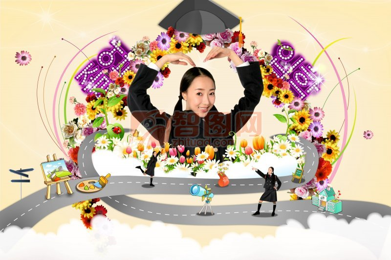 韓國少女海報設計