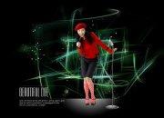红衣美女人物设计