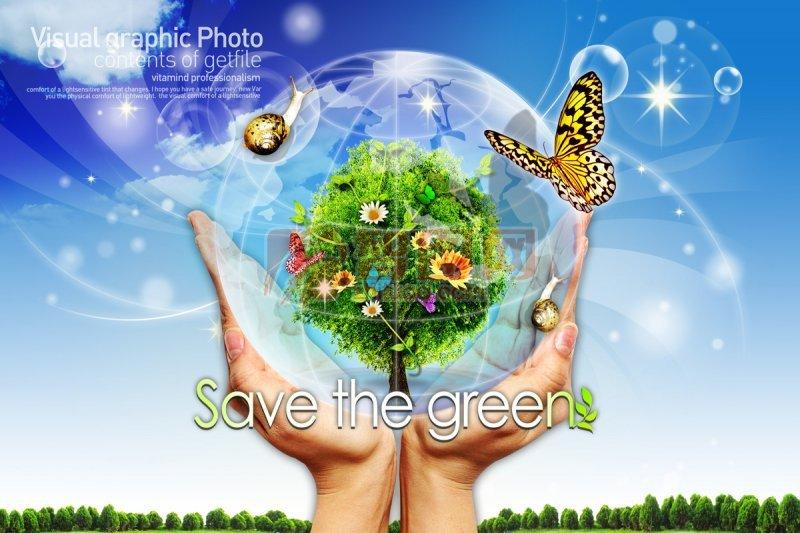 【psd】环保素材海报设计