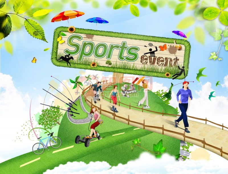 sports運動元素設計