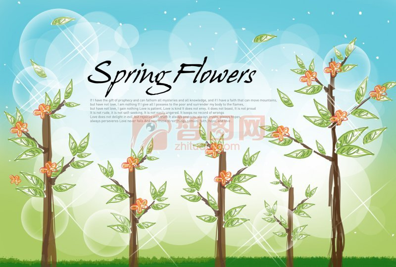 【psd】开花的树
