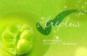 綠色花紋素材