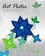 藍色花朵素材