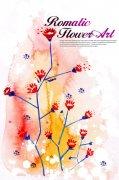 粉色背景花纹设计