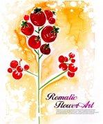 西红柿花纹设计