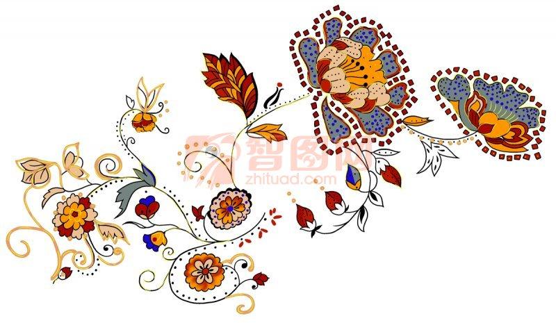 花卉素材 花卉 花卉图案 手绘图案 温馨漫画设计 彩色漫画 卡通漫画