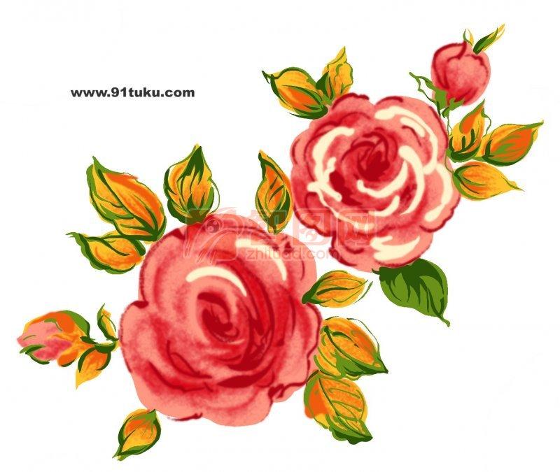 关键词: 两只红花 漫画素材 卡通 漫画 花卉 卡通元素 温馨漫画设计