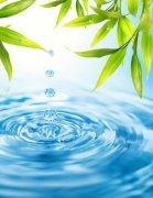 蓝色背景水滴元素