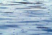 雨水河面景色