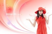 红衣服美女