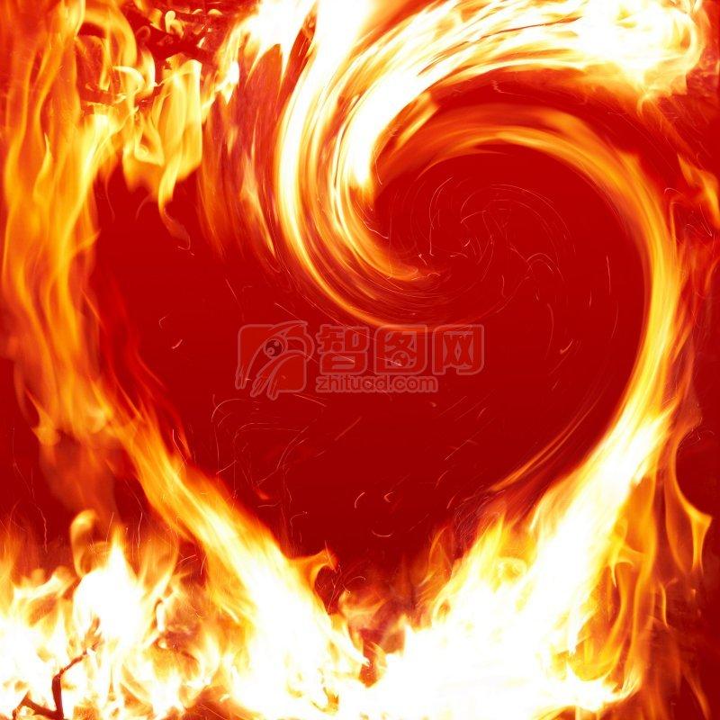 心形烈火燃烧